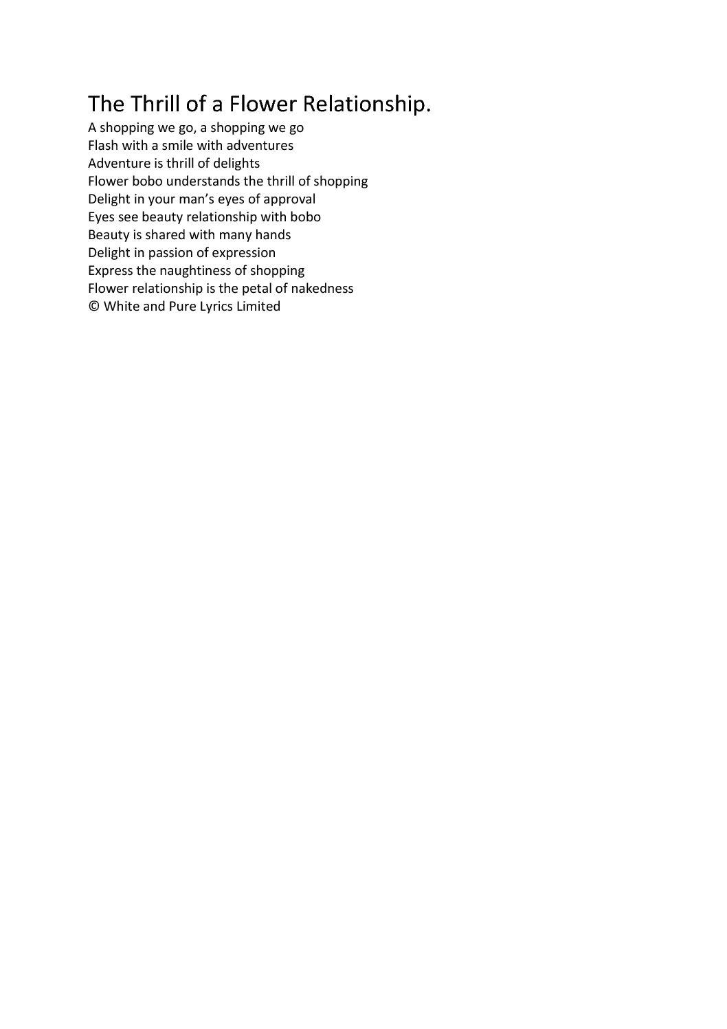 Song Lyrics White Pure Lyrics